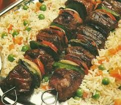 σουβλάκι με ρύζι = pilaf me shishka